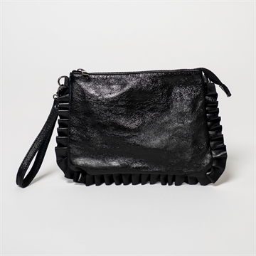 Ella skind clutch - metalic sort